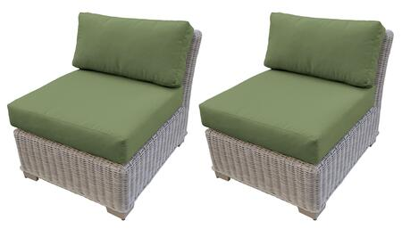 TKC038b-AS-DB-CILANTRO Armless Chair 2 Per Box - Beige and Cilantro