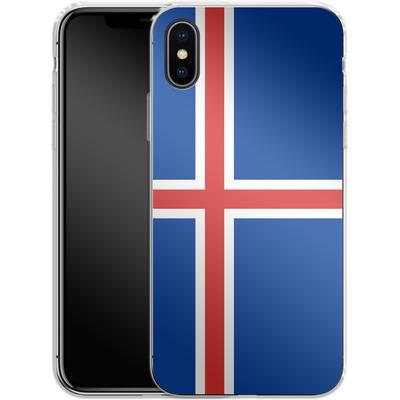 Apple iPhone X Silikon Handyhuelle - Iceland Flag von caseable Designs