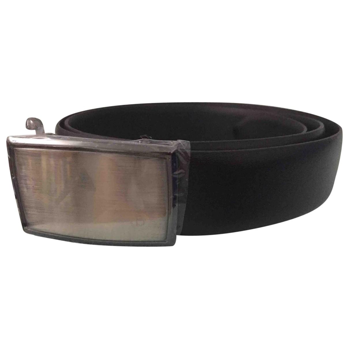 Bugatti \N Black Leather belt for Men 100 cm