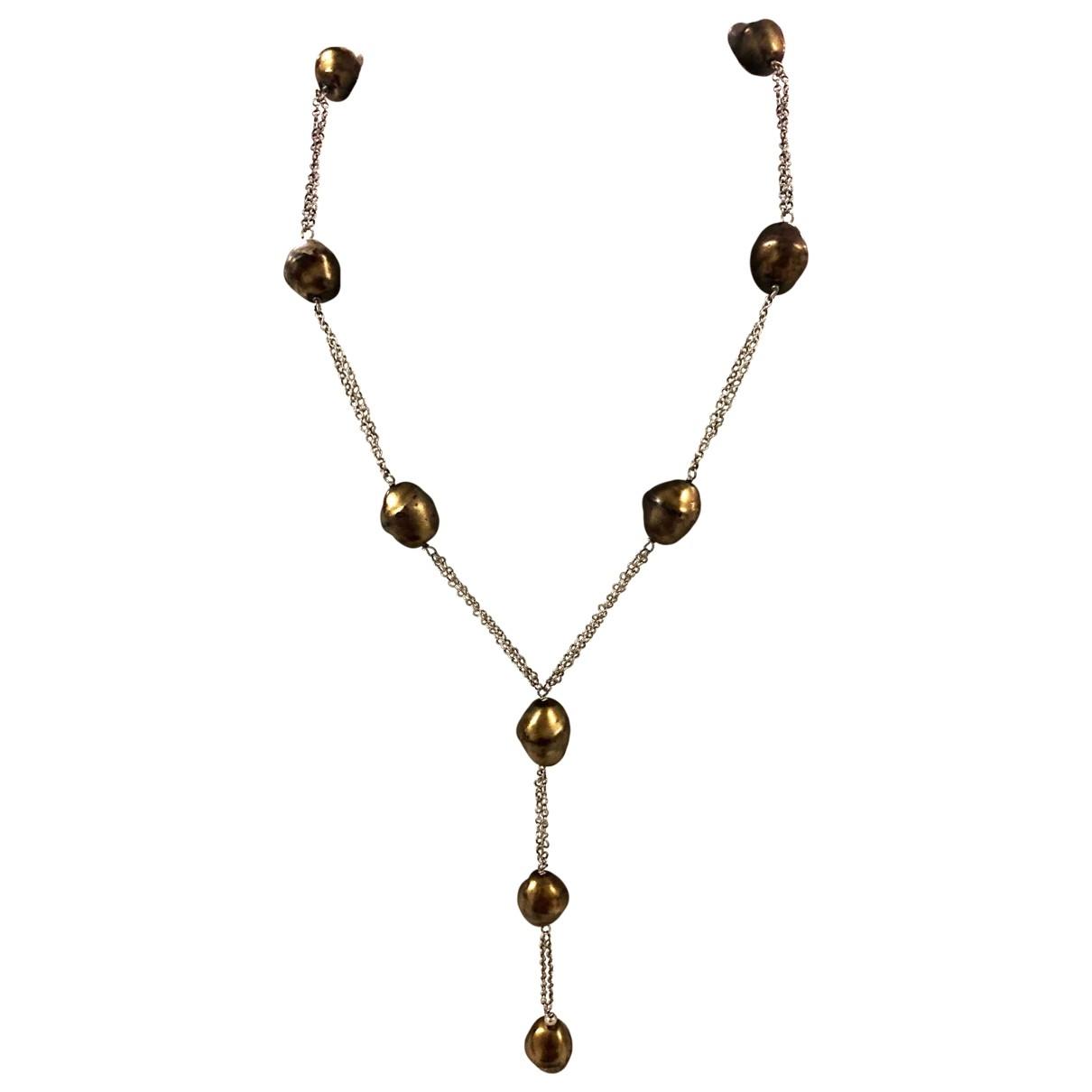 - Collier   pour femme en perles - argente
