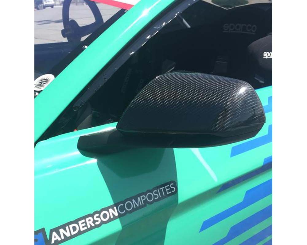 Anderson Composites AC-MC15FDMU Carbon Fiber Mirror Cover Replacements Type-OE Ford Mustang 2015-2017