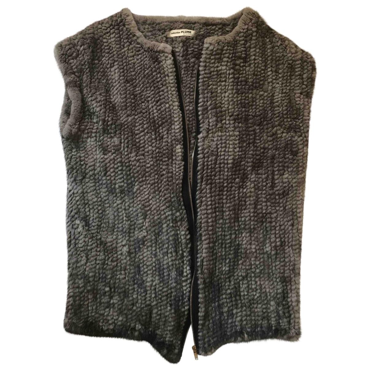 Sprung Freres - Veste   pour femme en vison - gris
