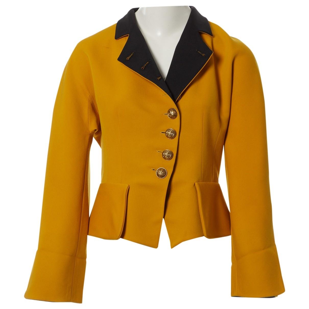 Dior - Veste   pour femme en coton - jaune