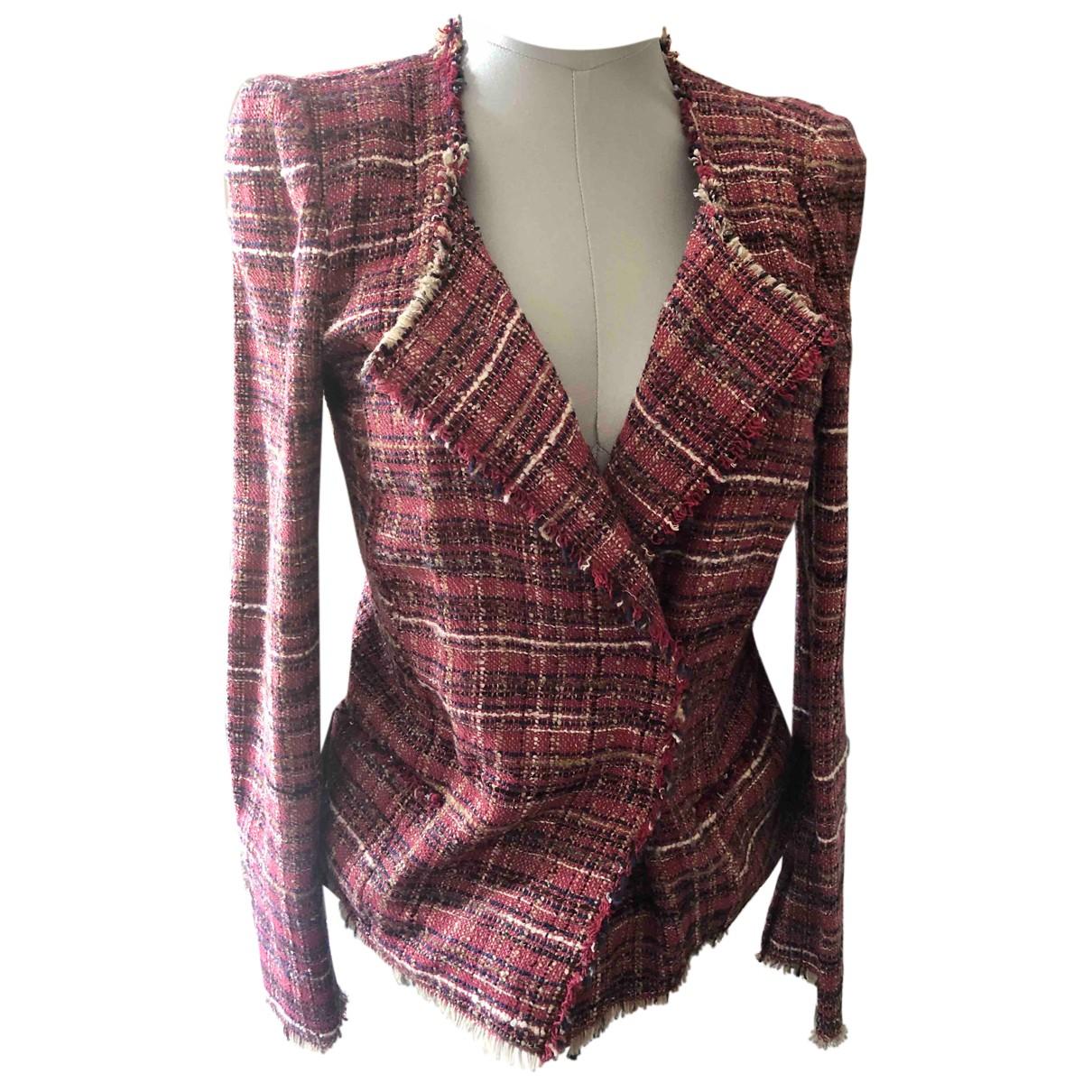 Isabel Marant Etoile - Veste   pour femme en tweed - rouge