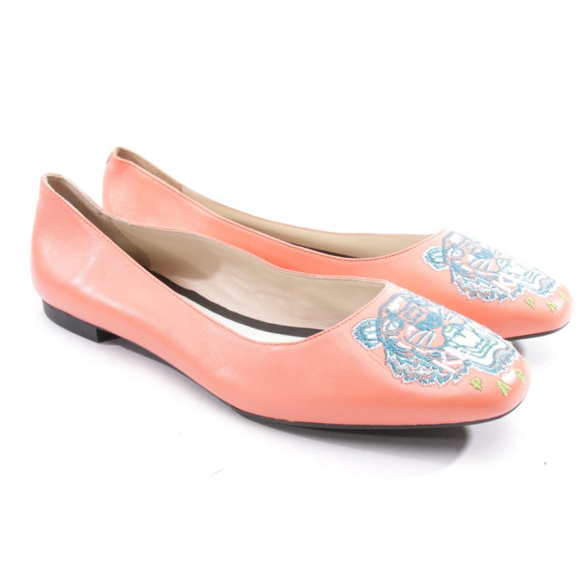 Kenzo \N Orange Leather Flats for Women 39.5 EU