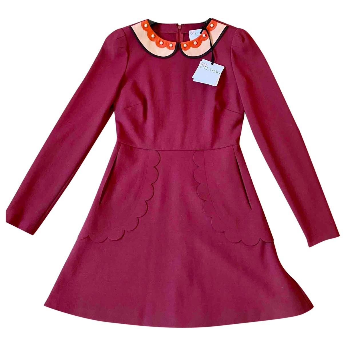 Red Valentino Garavani \N Burgundy dress for Women 40 IT