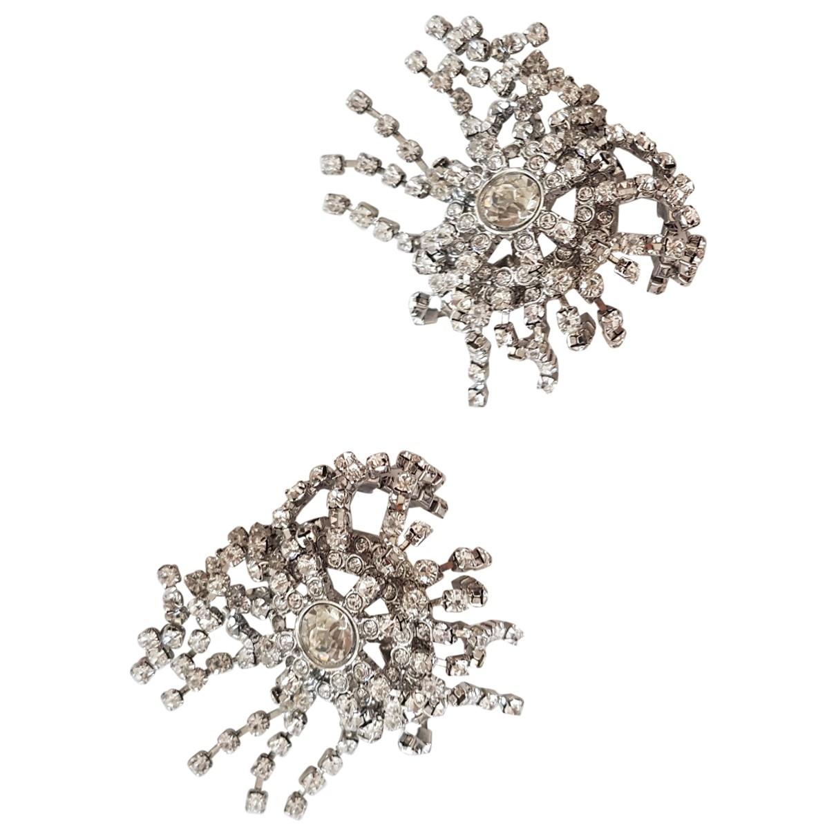 - Boucles doreilles Dormeuses pour femme en metal - argente