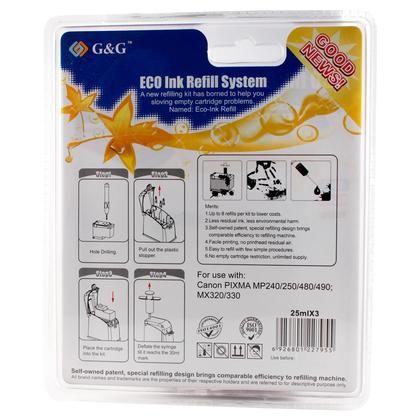 Canon PG210 Black Ink Cartridge Refill Kit - G&G™