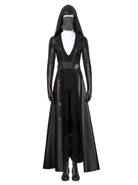 Milanoo Halloween Watchmen Cosplay Negro Cuero de PU Cuero de PU Conjunto DC Comics Cosplay Disfraz