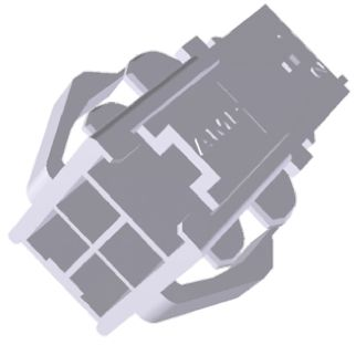TE Connectivity , Power Double Lock Female Connector Housing, 3.96mm Pitch, 4 Way, 2 Row (5)