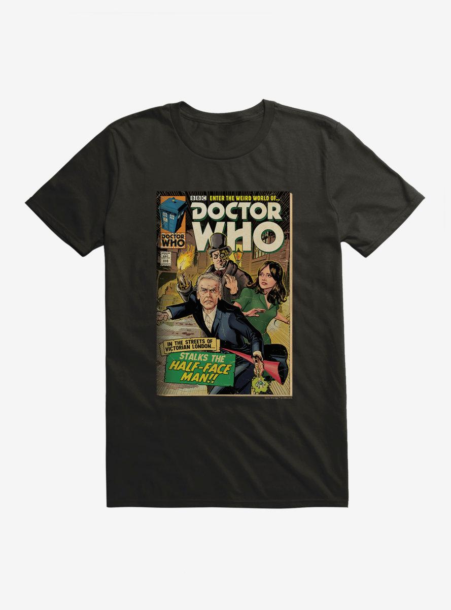 Doctor Who Half Face Man Comic T-Shirt