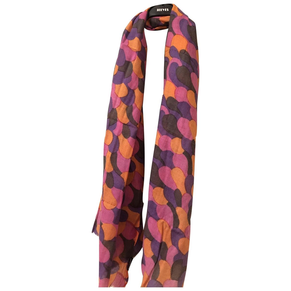 Marimekko \N Schal in  Orange Wolle