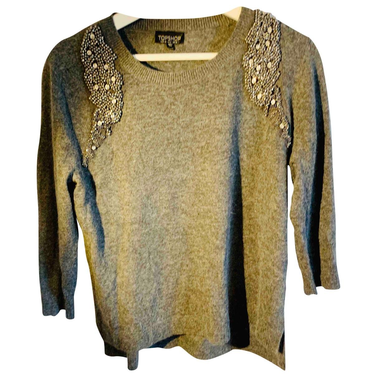 Tophop \N Pullover in  Grau Synthetik