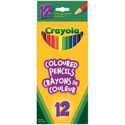 Crayons de couleur Crayola pr e-aiguis es - 12 Couleurs 469114