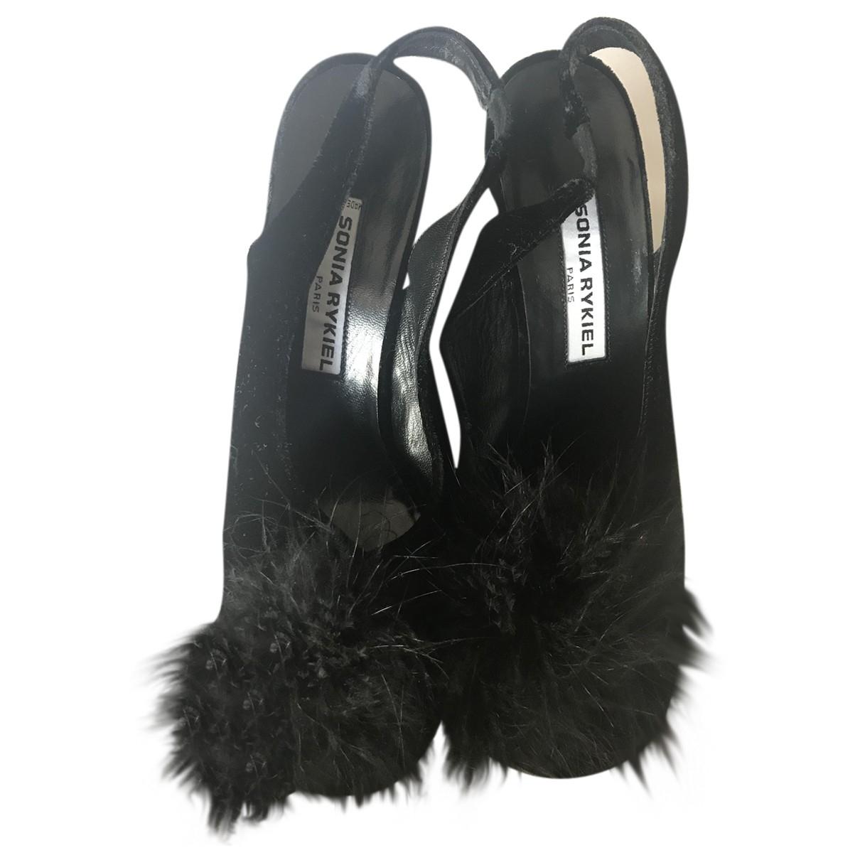 Sonia Rykiel - Sandales   pour femme en velours - noir