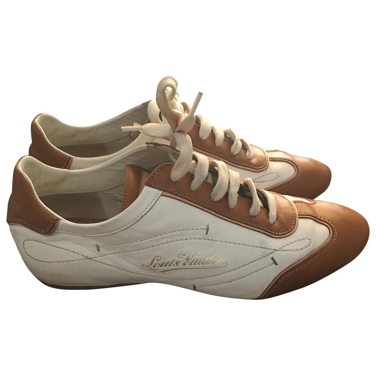 Louis Vuitton - Baskets   pour femme en cuir - blanc