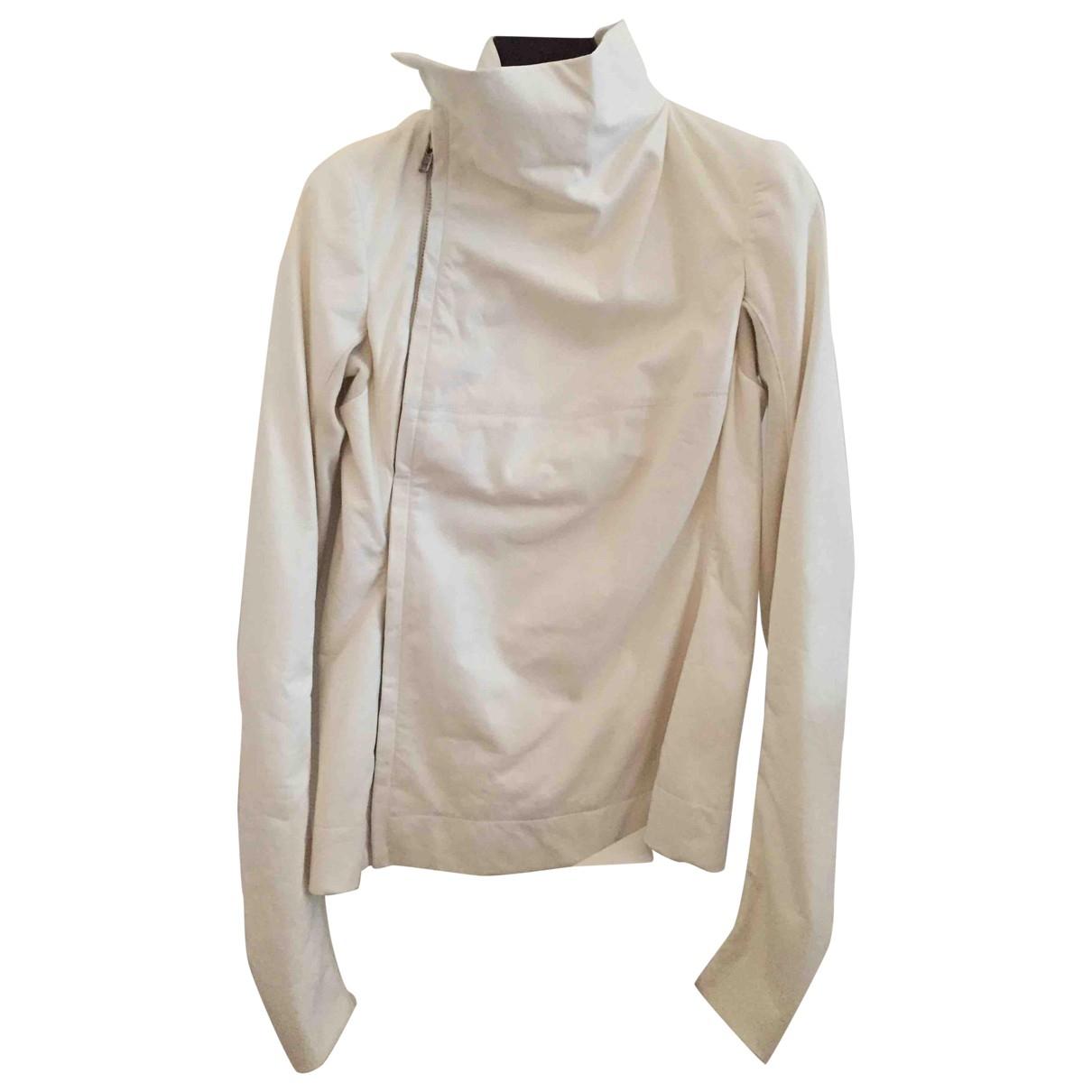 Rick Owens - Veste   pour femme en cuir - blanc