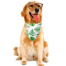 1 Stueck Hund Bandana mit tropischem Muster