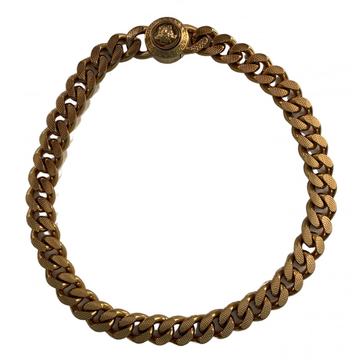 Versace - Collier Medusa pour femme en plaque or - dore
