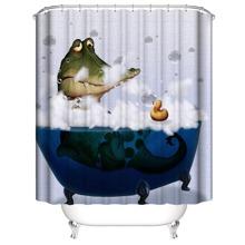 Duschvorhang mit Karikatur Krokodil Muster