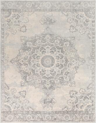 Monaco MOC-2301 710 x 103 Rectangle Traditional Rug in Silver Gray  Medium Gray
