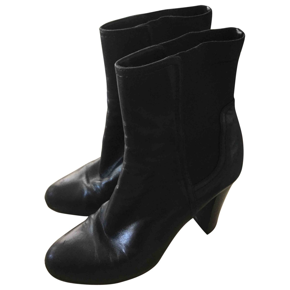 Gucci \N Black Leather Ankle boots for Women 38.5 EU