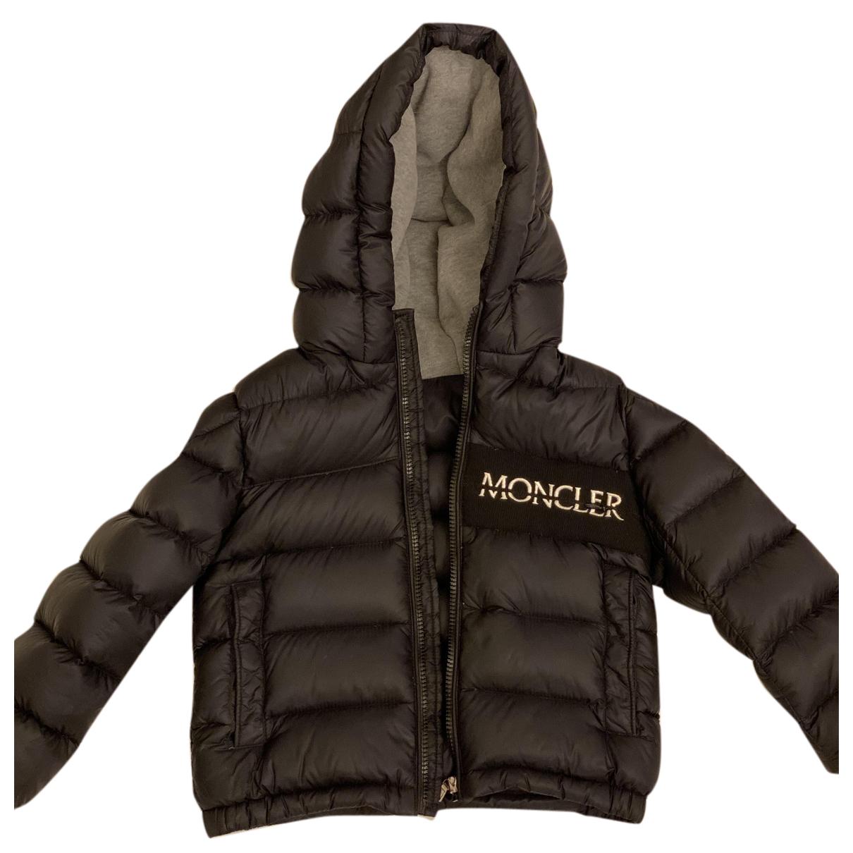 Moncler - Blousons.Manteaux Classic pour enfant en coton - noir