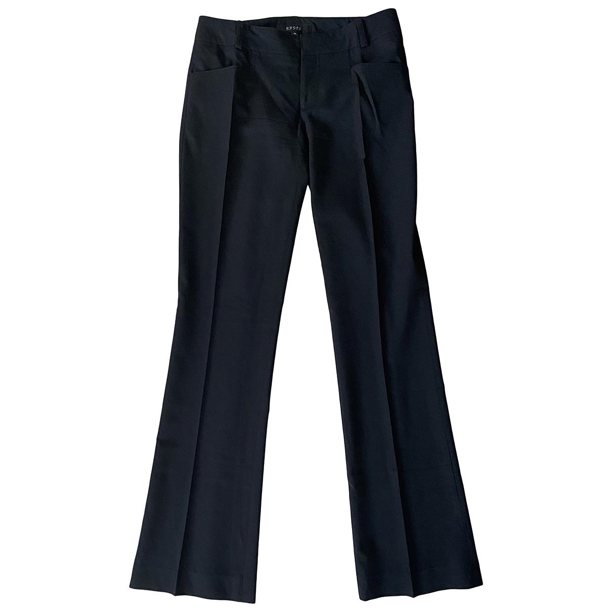 Gucci N Black Wool Trousers for Women 38 IT