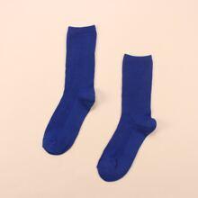 Simple Solid Socks