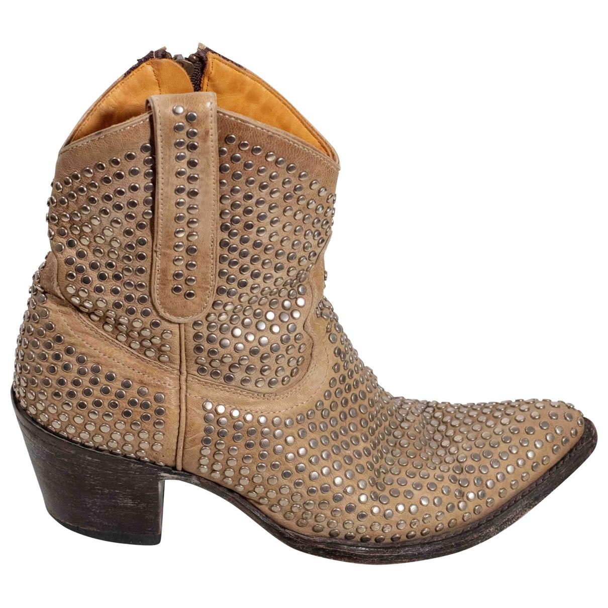 Mexicana - Boots   pour femme en cuir - beige