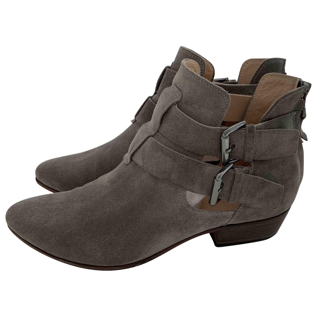 Kennel Und Schmenger - Boots   pour femme en suede - gris