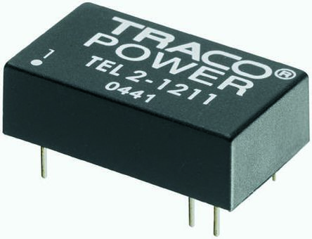 TRACOPOWER TEL 2 2W Isolated DC-DC Converter Through Hole, Voltage in 36 → 72 V dc, Voltage out 5V dc