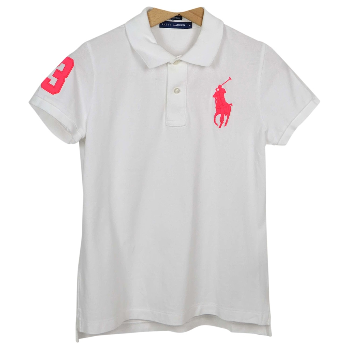 Polo Ralph Lauren Polo ajuste manches courtes Poloshirts in  Weiss Baumwolle
