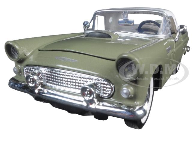 1956 Ford Thunderbird Soft Top Green 1/24 Diecast Car Model by Motormax