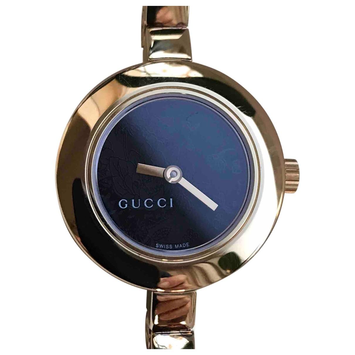 Gucci - Montre   pour femme en plaque or - dore
