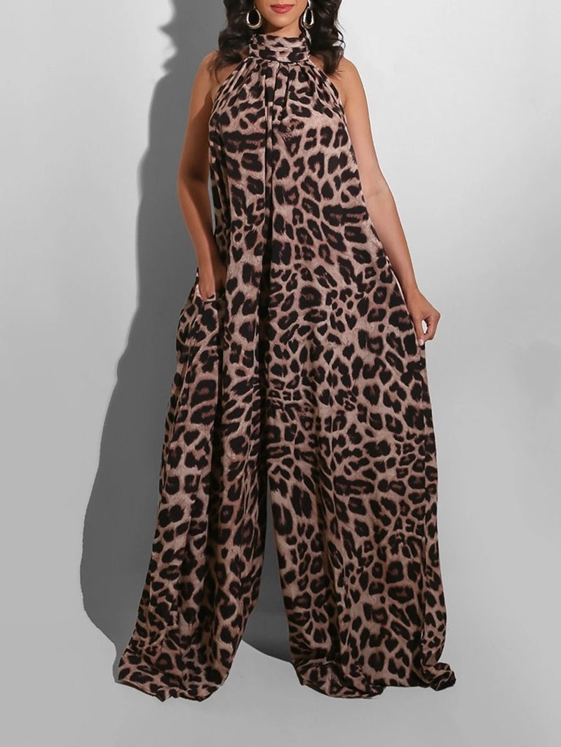 Ericdress Fashion Backless Full Length Wide Legs Loose Jumpsuit