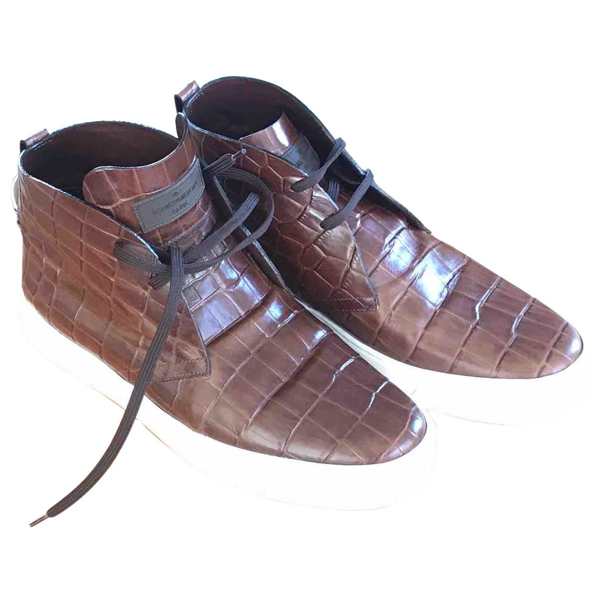 Louis Vuitton - Baskets   pour homme en cuir - marron