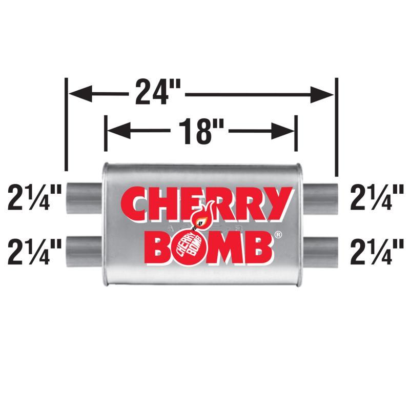 Muffler - Cherry Bomb 16841CB Turbo