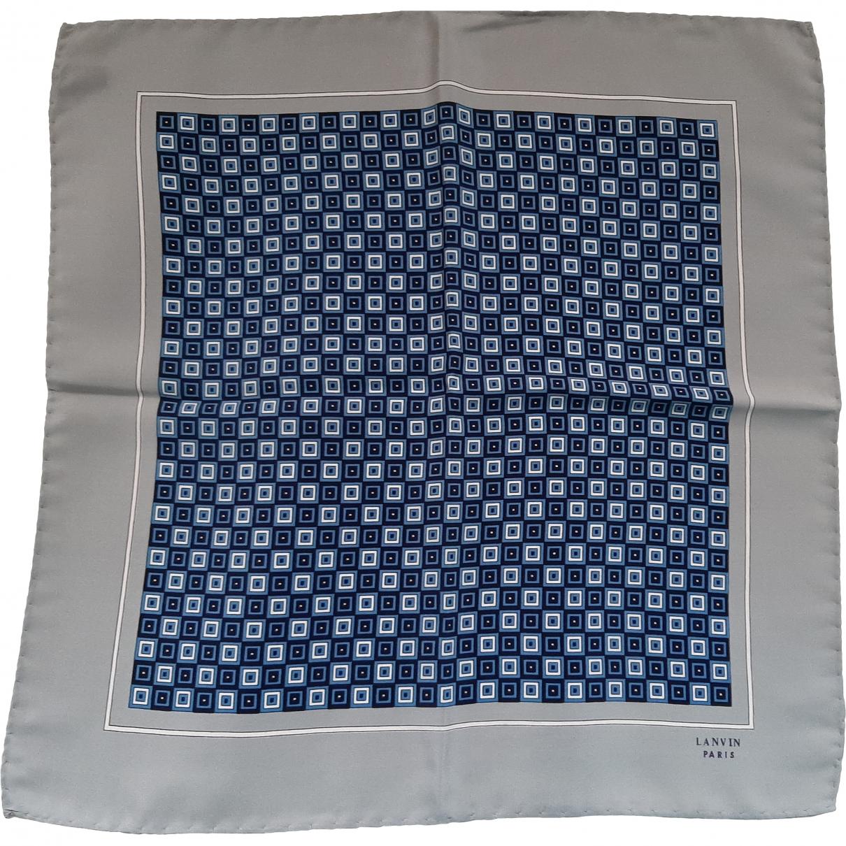 Lanvin - Carre   pour femme en soie - bleu