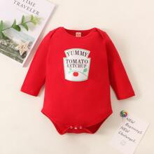 Baby Girl Letter Graphic Tee Bodysuit