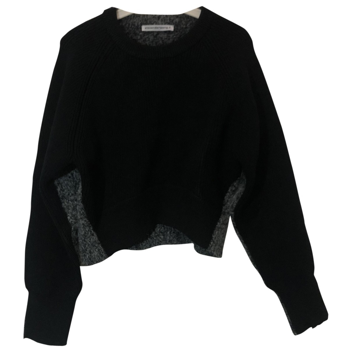 T By Alexander Wang \N Pullover in  Schwarz Wolle