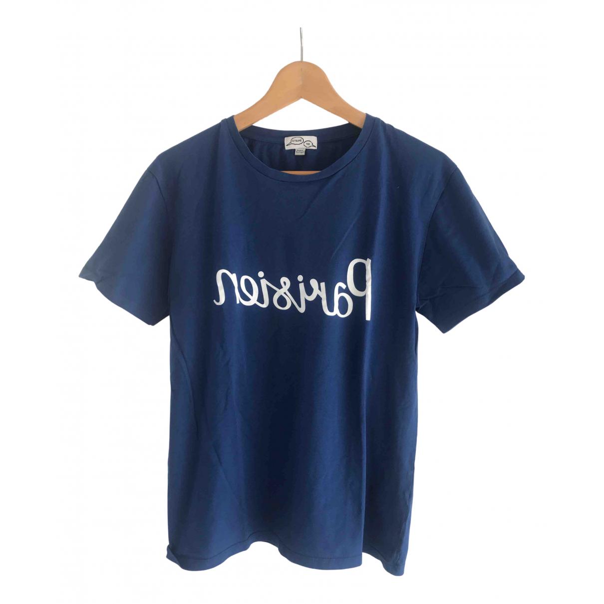 Maison Kitsune - Tee shirts   pour homme en coton - bleu