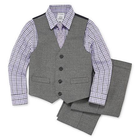 Van Heusen 4-pc. Suit Set Toddler Boy, 3t , Gray