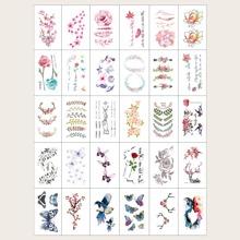 30sheets Floral & Animal Pattern Tattoo Sticker