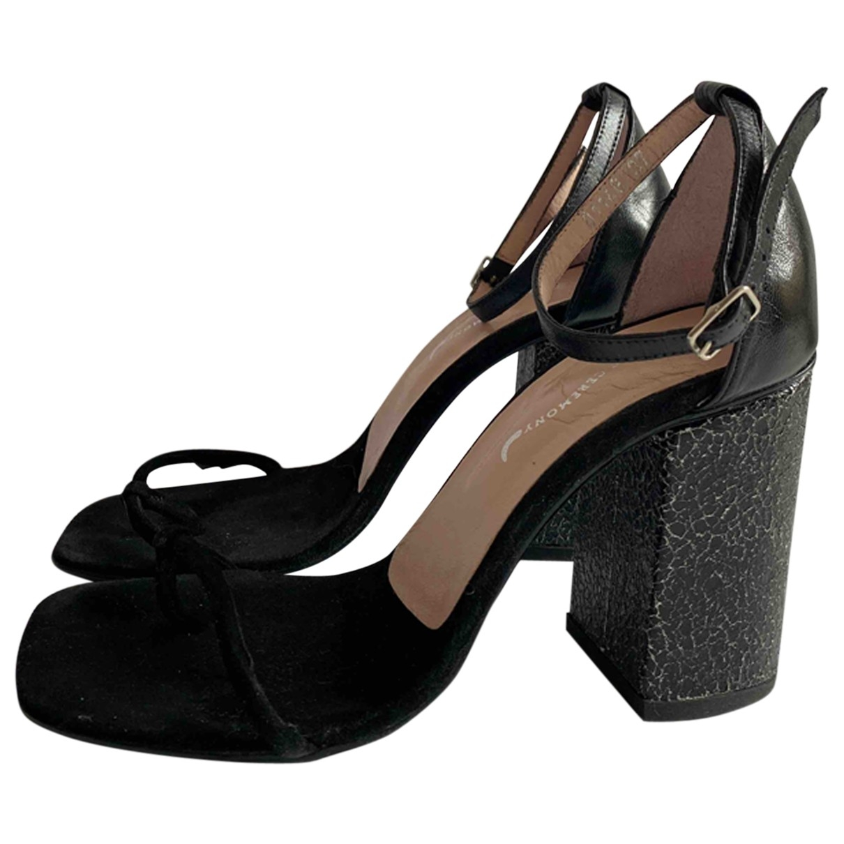 Opening Ceremony \N Black Suede Sandals for Women 37 EU