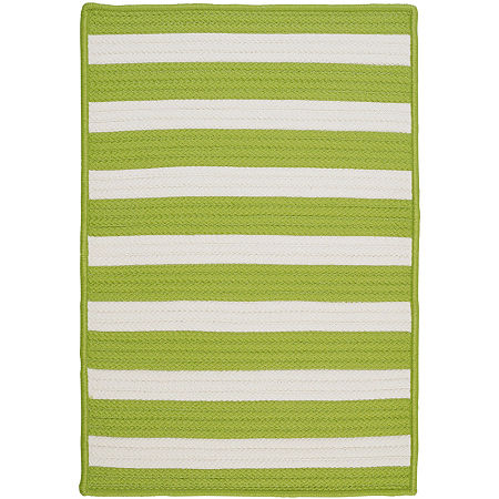 Colonial Mills Bayside Reversible Braided Indoor/Outdoor Rectangular Rug, One Size , Green