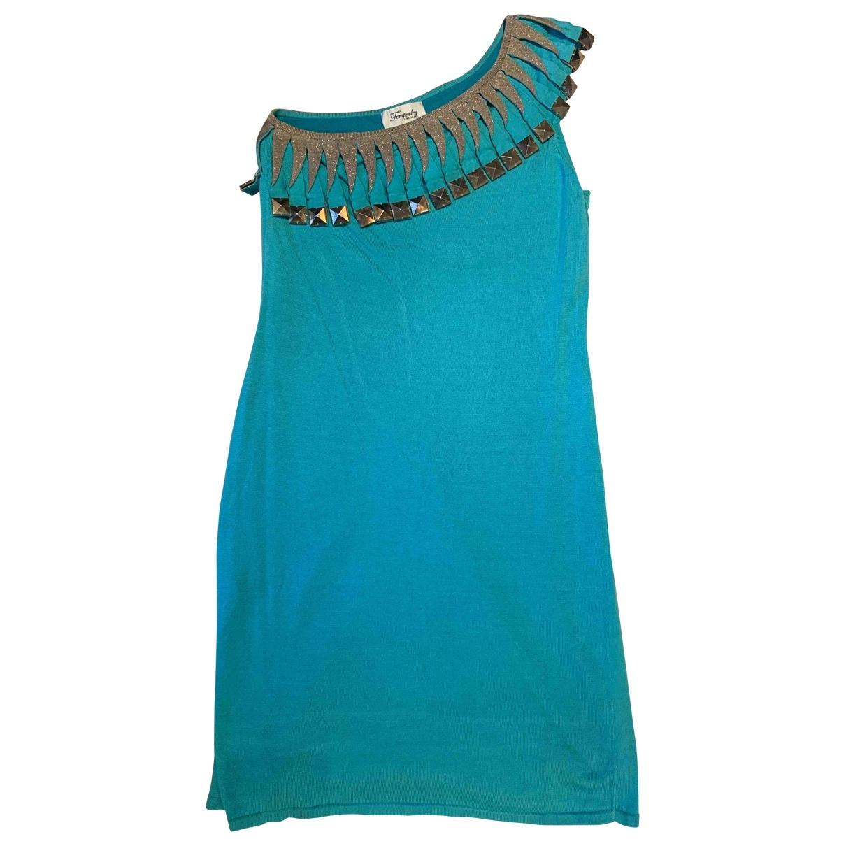 Temperley London - Robe   pour femme en coton - turquoise
