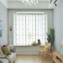 1 pieza cortina con patron de espiga de trigo