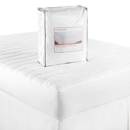 Liz Claiborne Cotton Comfort Mattress Pad, One Size , White