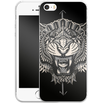 Apple iPhone 5 Silikon Handyhuelle - Eye Of The Tiger von BIOWORKZ